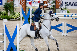 FUCHS Martin (SUI), Clooney 51<br /> Göteborg - Gothenburg Horse Show 2019 <br /> Longines FEI Jumping World Cup™ Final<br /> Training Session<br /> Warm Up Springen / Showjumping<br /> Longines FEI Jumping World Cup™ Final and FEI Dressage World Cup™ Final<br /> 03. April 2019<br /> © www.sportfotos-lafrentz.de/Stefan Lafrentz