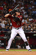PHOENIX, AZ - JUNE 12:  Peter O'Brien #14 of the Arizona Diamondbacks stands at bat in the fourth inning of the game against the Miami Marlins at Chase Field on June 12, 2016 in Phoenix, Arizona. The Arizona Diamondbacks defeated the Miami Marlins 6-0.  (Photo by Jennifer Stewart/Getty Images)