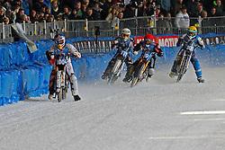 13.03.2016, Assen, BEL, FIM Eisspeedway Gladiators, Assen, im Bild Franz Zorn (AUT), Daniel Henderson (SWE), Stefan Svensson (SWE), Yegor Myshkovets (RUS) // during the Astana Expo FIM Ice Speedway Gladiators World Championship in Assen, Belgium on 2016/03/13. EXPA Pictures &copy; 2016, PhotoCredit: EXPA/ Eibner-Pressefoto/ Stiefel<br /> <br /> *****ATTENTION - OUT of GER*****