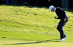 File photo dated 26-09-2014 of USA's Keegan Bradley celebrates putting on the tenth during the fourballs on day one of the 40th Ryder Cup at Gleneagles Golf Course, Perthshire.