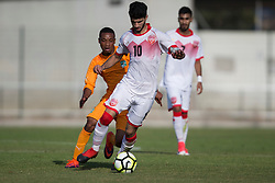 AUBAGNE, FRANCE - Tuesday, May 30, 2017: Bahrain's Yusuf Hardan Mohamed in action during the Toulon Tournament Group B match between Bahrain and Ivory Coast at the Stade de Lattre-de-Tassigny. (Pic by Laura Malkin/Propaganda)