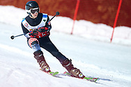 """Schladming, Austria - 2017 March 21: Antonijo Topalovic from Croatia (115) competes in Alpine Skiing Competition while Special Olympics World Winter Games Austria 2017 on the """"Sepp-Walcher-Downhill"""" (Slope 32) near the """"Tauernalm"""" in Rohrmoos on March 21, 2017 in Schladming, Austria.<br /> <br /> Mandatory credit:<br /> Photo by © Adam Nurkiewicz / Mediasport<br /> <br /> Adam Nurkiewicz declares that he has no rights to the image of people at the photographs of his authorship.<br /> <br /> Picture also available in RAW (NEF) or TIFF format on special request.<br /> <br /> Any editorial, commercial or promotional use requires written permission from the author of image.<br /> <br /> Image can be used in the press when the method of use and the signature does not hurt people on the picture."""