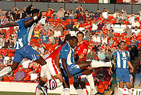 Photo: Sportsbeat Images<br />Barnsley v Wigan Athletic. Pre Season Friendly. 31/07/2007.<br />Wigan's Emile Heskey (C) misses a free header on goal
