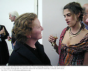 Tracey Emin and Rachel Whiteread. Out There opening. White Cube. April 13 2000<br />