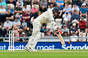 Sam Curran of England digs out a yorker while batting during the first day of the 4th SpecSavers International Test Match 2018 match between England and India at the Ageas Bowl, Southampton, United Kingdom on 30 August 2018.