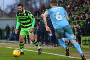 Forest Green Rovers Chris Clements(22) on the ball during the EFL Sky Bet League 2 match between Forest Green Rovers and Coventry City at the New Lawn, Forest Green, United Kingdom on 3 February 2018. Picture by Shane Healey.