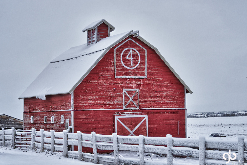 I found this barn in Bozeman, Montana.