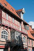 Historisches Haus, Altstadt, Lueneburg, Niedersachsen, Deutschland.| .historical building in old town,  Lueneburg, Lower Saxony, Germany.