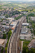 Nederland, Limburg, Gemeente Sittard-Geleen, 27-05-2013; centrum van Sittard met Emplacement en station.<br /> Town centre with railway station.<br /> luchtfoto (toeslag op standaardtarieven);<br /> aerial photo (additional fee required);<br /> copyright foto/photo Siebe Swart.