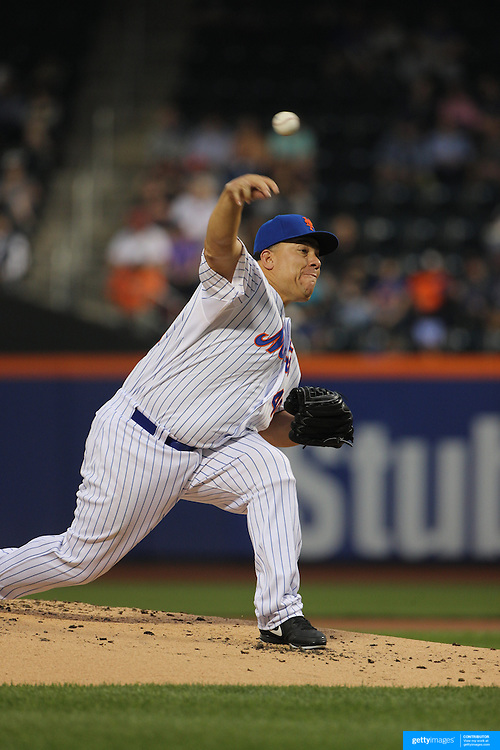 Pitcher Bartolo Colon, New York Mets, pitching during the New York Mets Vs Baltimore Orioles MLB regular season baseball game at Citi Field, Queens, New York. USA. 5th May 2015. Photo Tim Clayton