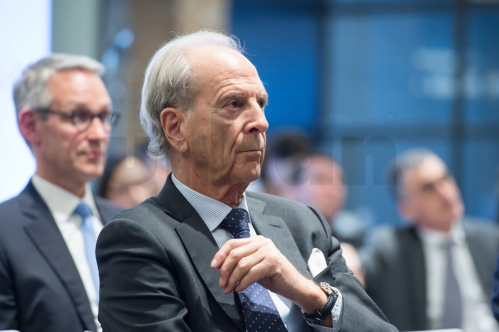 """29 MAR 2017, BERLIN/GERMANY:<br /> Dr. Juergen Heraeus, Praesident B20, Vorsitzender von UNICEF Deutschland, Aufsichtsratsvorsitzender der Firma Heraeus, haelt eine Rede, Veranstaltung des Wirtschaftsforums der SPD und der Business 20, B20: """"Global Governance in Zeiten der Globalisierungsskepsis - Impulse aus der G20-Wirtschaft"""", Quartier Zukunft der Deutschen Bank<br /> IMAGE: 20170329-02-149<br /> KEYWORDS: Dr. Jürgen Heraeus"""