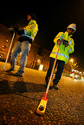 UK ENGLAND LONDON 15NOV10 - TfL engineers undertake a baseline light measurements on a potential LED test site on Blackfriars Road, Southwark, London...jre/Photo by Jiri Rezac..© Jiri Rezac 2010