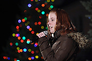 Pine Bush, NY -  Lauren Brunetti sings at The Pine Bush Festival of Lights holiday celebration on the evening of Dec. 1, 2008.