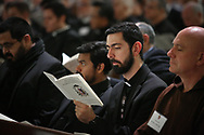 Vespers service on Wednesday, Feb. 8, 2017 at Cathedral Guadalupe as Bishop Edward J. Burns prepares to become the eighth bishop of the Catholic Diocese of Dallas. (Photo by Kevin Bartram)