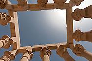 Egypt Asswan - Philae temple. What we refer to today as Philae is the main temple complex relocated from that island, after the High Dam was built, to the island of Agilika. It was the center of the cult of the goddess Isis and her connection with Osiris, Horus, and the Kingship, during the Ptolemaic period  Asswan  Egypt   / temple de Philae. L'île de Philae, situee en amont de la première cataracte du Nil (à 7 kilomètres d'Assouan), est engloutie depuis la mise en service du Grand Barrage d'Assouan en 1978. Elle avait dejà les pieds dans l'eau à la suite de la construction du premier barrage par les Britanniques. La visite du temple s'effectuait en barque. Le programme de sauvetage des sites archeologiques de la Nubie par l'Unesco prendra en charge le financement du deplacement, pierre par pierre, du temple sur l'île d'Agilkia, situee à 300 mètres de l'île de Philae et plus elevee de 13 mètres. Entièrement dedie à Isis, ce temple a conserve son naos, le tabernacle de pierre qui abritait la statue de la divinite  Assouan  Egypte
