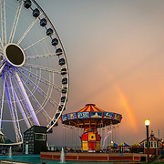 Rainbow over Navy Pier. Photo by Alabastro Photography.