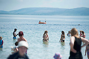 01/07/2014 Enjoying the sunshine in Salthill Galway. Photo:Andrew Downes