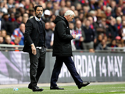 Watford Manager Quique Flores and Crystal Palace Manager Alan Pardew - Mandatory by-line: Robbie Stephenson/JMP - 24/04/2016 - FOOTBALL - Wembley Stadium - London, England - Crystal Palace v Watford - The Emirates FA Cup Semi-Final