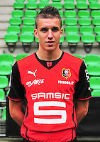 Adrien HUNOU - 19.09.2013 - Photo officielle - Rennes - Ligue 1<br /> Photo : Philippe Le Brech / Icon Sport