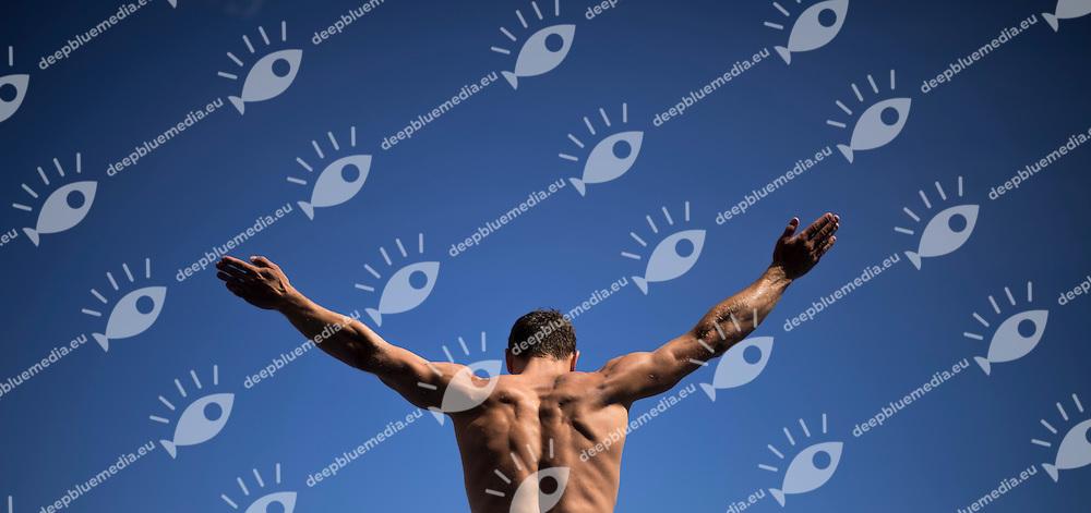 SHABOTENKO Anatolii UKR<br /> High Diving - Men's 27m high dive preliminaries<br /> Day 11 03/08/2015<br /> XVI FINA World Championships Aquatics Swimming<br /> Kazan Tatarstan RUS July 24 - Aug. 9 2015 <br /> Photo Giorgio Perottino/Deepbluemedia/Insidefoto