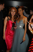 YUKI OSHIMA-WILPON and Thandie Newton, Party to celebrate the First issue of British Harper's Bazaar. Cirque, Leicester Sq. London. 16 February 2006. ONE TIME USE ONLY - DO NOT ARCHIVE  © Copyright Photograph by Dafydd Jones 66 Stockwell Park Rd. London SW9 0DA Tel 020 7733 0108 www.dafjones.com