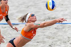 20-07-2018 NED: CEV DELA Beach Volleyball European Championship day 6<br /> Madelein Meppelink NED #2, Sanne Keizer NED #1