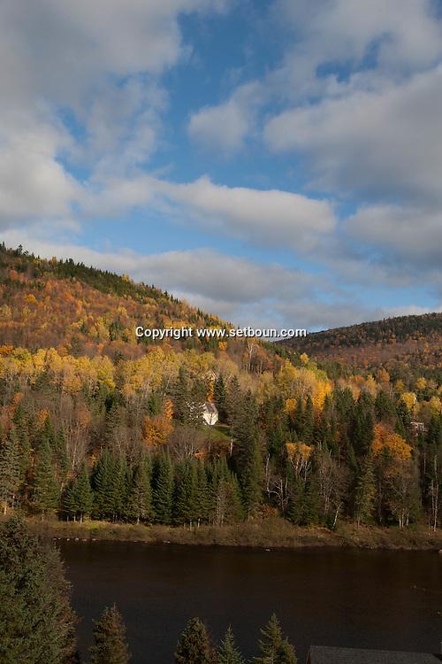 Canada. Quebec. nordic spa in Toneham eand Tewkesbury near  Jaques Cartier river   / nordique spa a toneham et Tewkesbury au bord de la riviere Jaques Cartier