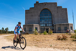 Moniek in training on the beautiful mountain bike track around Radio Kootwijk, the first serious step was taken during this Corona crisis for La Vuelta Soria & Navarra at the Veluwe on June 01, 2020 in Radio Kootwijk, Netherlands