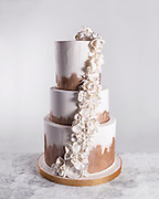 Beautiful wedding cake photo by Brandon Alms Photography