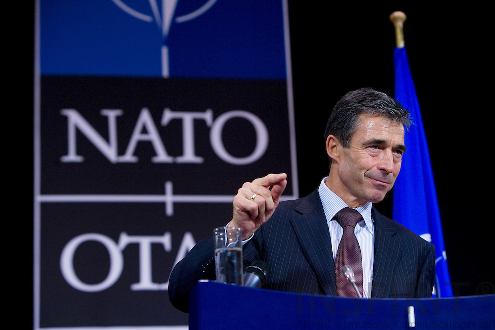 BRUSSELS - BELGIUM - 02 SEPTEMBER 2009 -- NATO Secretary General Anders Fogh Rasmussen during a Press Conference at NATO HQ. Photo: Erik Luntang