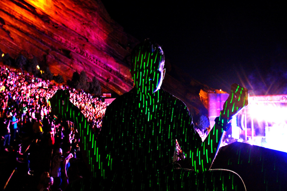 Red Rocks Amphitheater Morrison, Colorado. Electro-Light Photography.