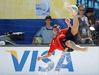 FIFA BEACH SOCCER WORLD CUP 2008 SPAIN - MEXICO   20.07.2008 ANTONIO (ESP) with a bicycle kick.