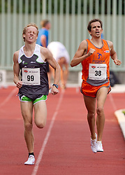 Mitja Krevs and Peter Kastelic during men 1500 m at Slovenian National Championships in athletics 2010, on July 17, 2010 in Velenje, Slovenia. (Photo by Vid Ponikvar / Sportida)