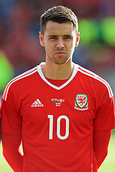 WREXHAM, WALES - Friday, September 2, 2016: Wales' Thomas O'Sullivan lines-up before the UEFA Under-21 Championship Qualifying Group 5 match against Denmark at the Racecourse Ground. (Pic by Paul Greenwood/Propaganda)