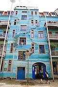Kunsthof Dresden, Regenwasserspiel, Neustadt., Dresden, Sachsen, Deutschland.|.Kunsthof Dresden, Neustadt, Dresden, Germany