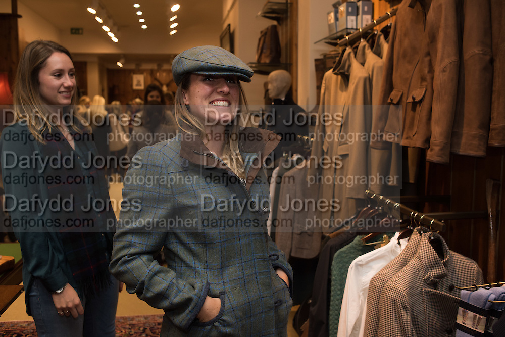 AMY MAUNDER-TAYLOR; JEMIMA MAUNDER-TAYLOR, Tatler and Dubarry host an evening with Clare Balding, Dubarry of Ireland, 34 Duke of York's Sq. London. 13 October 2016.