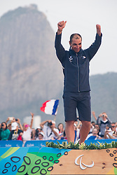 Podium, Gold Medal, SEGUIN Damien, FRA, 1 Person Keelboat, 2.4mR, Sailing, Voile à Rio 2016 Paralympic Games, Brazil