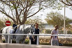 GAL Edward (NED), Glock's Zanardi<br /> Doha - CHI Al SHAQAB 2020<br /> Impression am Rande<br /> FEI Grand Prix Freestyle<br /> 29. Februar 2020<br /> © www.sportfotos-lafrentz.de/Stefan Lafrentz