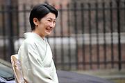De Japanse prins Akishino , prinses Kiko Prins Constantijn en Prinses Laurentien komen aan op het binnenhof Op de foto: IOp de foto: prinses Kiko