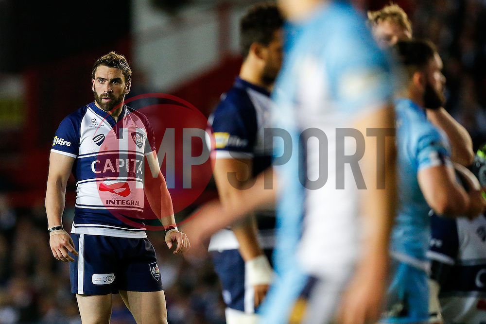 Bristol Rugby replacement Nicky Robinson looks on - Photo mandatory by-line: Rogan Thomson/JMP - 07966 386802 - 20/05/2015 - SPORT - Rugby Union - Bristol, England - Ashton Gate Stadium - Bristol Rugby v Worcester Warriors - Greene King IPA Championship Play-Off Final 1st Leg.