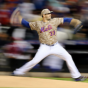 Pitcher Matt Harvey, New York Mets, pitching during the New York Mets Vs St. Louis Cardinals MLB regular season baseball game at Citi Field, Queens, New York. USA. 16th May 2015. Photo Tim Clayton