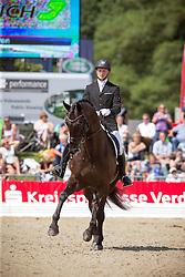 Gron Allen (DEN) - Zick Flower<br /> FEI World Dressage Championships for Young Horses<br /> Internationales Dressur- und Springfestival - Verden 2014<br /> © Dirk Caremans