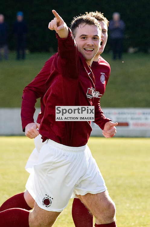 Colin Strickland<br /> in action for Linlithgow Rose who made history when they became the first junior club to reach the Scottish Cup 5th round when they beat Forfar Athletic 1-0 on 26th January 2016<br /> (c) Andrew West | SportPix.org.uk