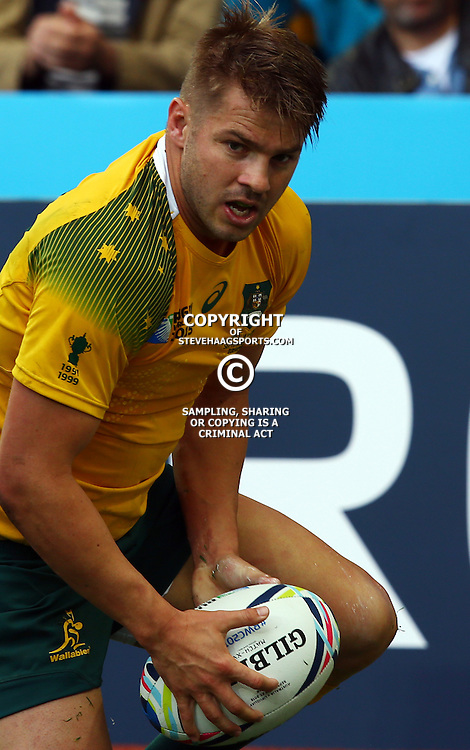 BIRMINGHAM, ENGLAND - SEPTEMBER 27: Drew Mitchell of Australia during the Rugby World Cup 2015 Pool A match between Australia and Uruguay at Villa Park on September 27, 2015 in Birmingham, England. (Photo by Steve Haag/Gallo Images)