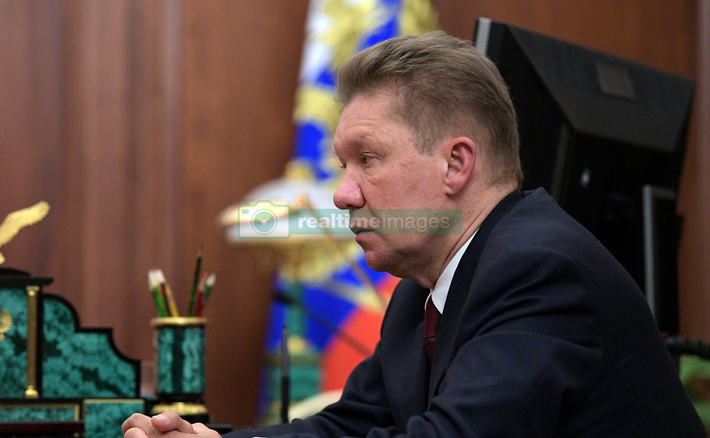 July 4, 2017 - Moscow, Russia - July 4, 2017. - Russia, Moscow. - Gazprom CEO Aleksey Miller during a meeting with Russian President Vladimir Putin. (Credit Image: © Russian Look via ZUMA Wire)