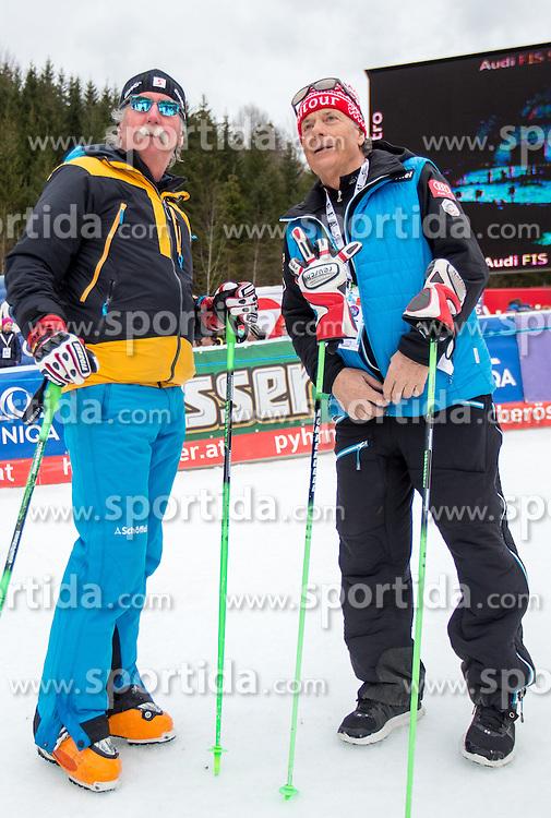 28.02.2016, Hannes Trinkl Rennstrecke, Hinterstoder, AUT, FIS Weltcup Ski Alpin, Hinterstoder, Riesenslalom, Herren, 2. Lauf, im Bild v.l. Ferdinand Hirscher, Prof. Peter Schröcksnadel (ÖSV Präsident) // v.l.t.r. Ferdinand Hirscher Peter Schroecksnadel Austrian Ski Association President after men's Giant Slalom of Hinterstoder FIS Ski Alpine World Cup at the Hannes Trinkl Rennstrecke in Hinterstoder, Austria on 2016/02/28. EXPA Pictures © 2016, PhotoCredit: EXPA/ Johann Groder