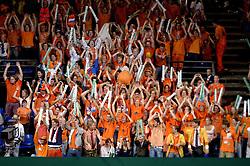 23-09-2006 TENNIS: DAVIS CUP: NEDERLAND - TSJECHIE: LEIDEN <br /> Oranje publiek , support , toeschouwers<br /> ©2006-WWW.FOTOHOOGENDOORN.NL