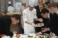 Philippe Mille, France,  PREPARATION OF MEAT PLATES for the judges,  at the Bocuse d'Or contest