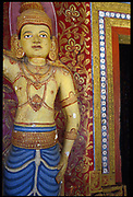 Guardian deity at entrance to an old Buddhit temple just outside Kandy.