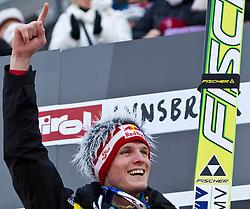 03.01.2011, Bergisel, Innsbruck, AUT, Vierschanzentournee, Innsbruck, Finale, im Bild // Sieger Thomas Morgenstern, AUT // during the 59th Four Hills Tournament Final in Innsbruck, EXPA Pictures © 2011, PhotoCredit: EXPA/ J. Feichter
